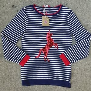 NWT Joules Miranda Unicorn Sweater